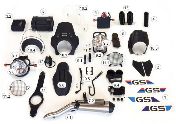 Kit r115 adv il kit per la tua bmw r1150gs for Kit per il portico anteriore