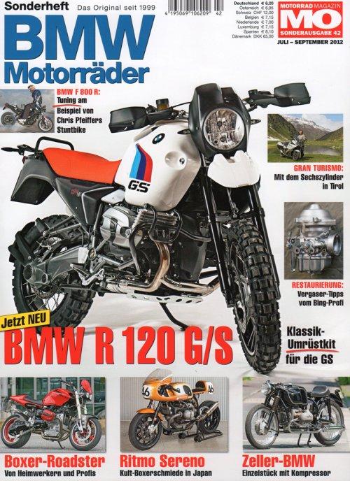 Cover BMW Motorrader luglio/settembre 2012