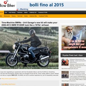 YELLOW BIKER Kit R120 R