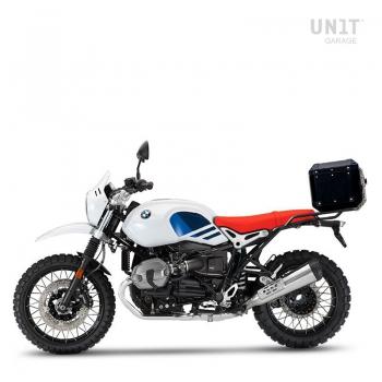 Bauletto Atlas in Alluminio 36L + Portapacchi posteriore con maniglie passeggero
