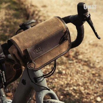 Borsa da manubrio Sahara Crosta di cuoio x Bici