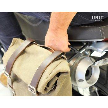 Borsa laterale in crosta di cuoio + telaio Ducati Scramble 1100 DX