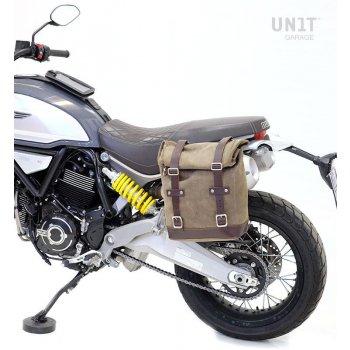 Borsa laterale in crosta di cuoio + telaio Ducati Scramble 1100 SX