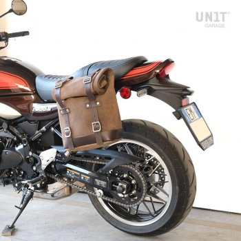 Borsa laterale in crosta di cuoio + telaio Kawasaki Z900RS SX
