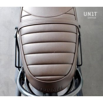 Borsa laterale in crosta di cuoio + telaio Triumph Speed Twin SX