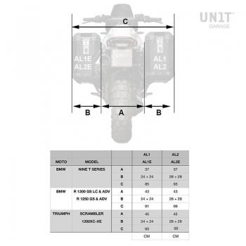 Coppia borse Atlas in Alluminio 40L+34L con Telai nineT