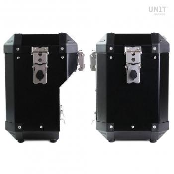 Coppia borse laterale Unitgarage in Alluminio 45L