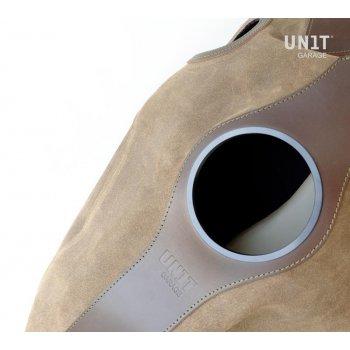 Cover serbatoio in crosta di cuoio