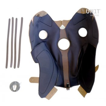 Cover serbatoio in crosta di cuoio con portapacchi
