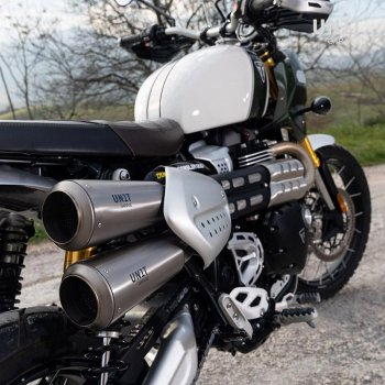 Marmitta Triumph 1200XC & XE con Collettore senza catalizzatore