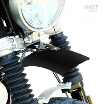 Parafango alto in alluminio nineT Urban GS Nero