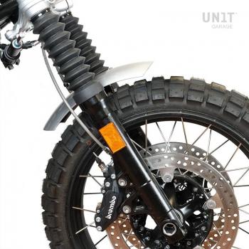 Parafango basso in alluminio nineT con stabilizzatore forcella