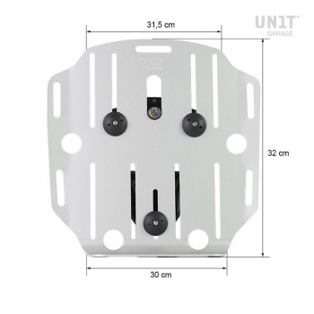 Portaborse in alluminio con frontale regolabile in Hypalon e aggancio rapido e telaio