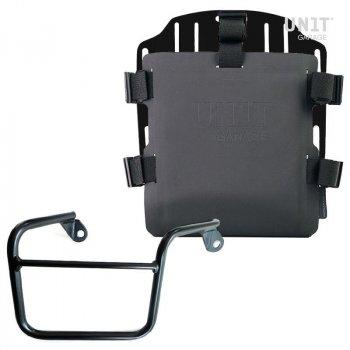 Portaborse in alluminio con frontale regolabile in Hypalon e aggancio rapido + telaio