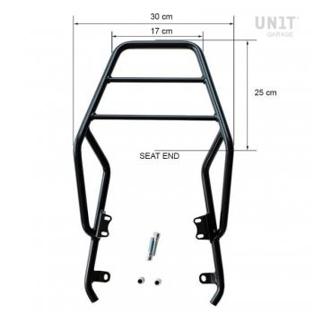 Portapacchi posteriore con maniglie passeggero
