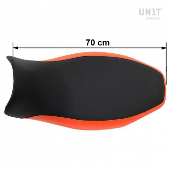 Sella lunga nera/arancio